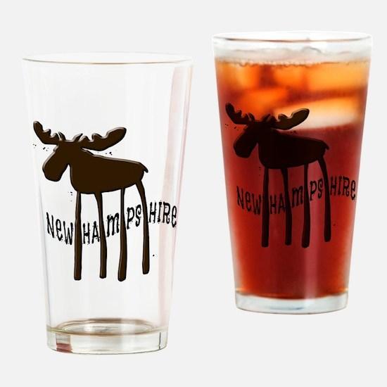 NH Chocolate Moose Drinking Glass