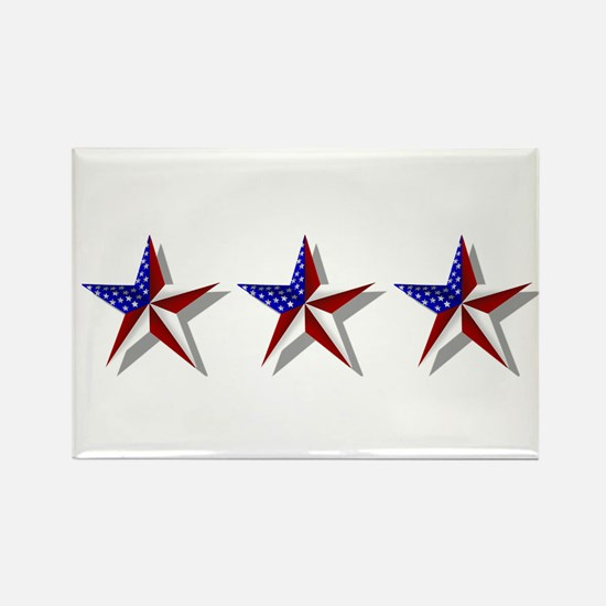 American Stars Rectangle Magnet