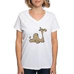 Camel Women's V-Neck T-Shirt