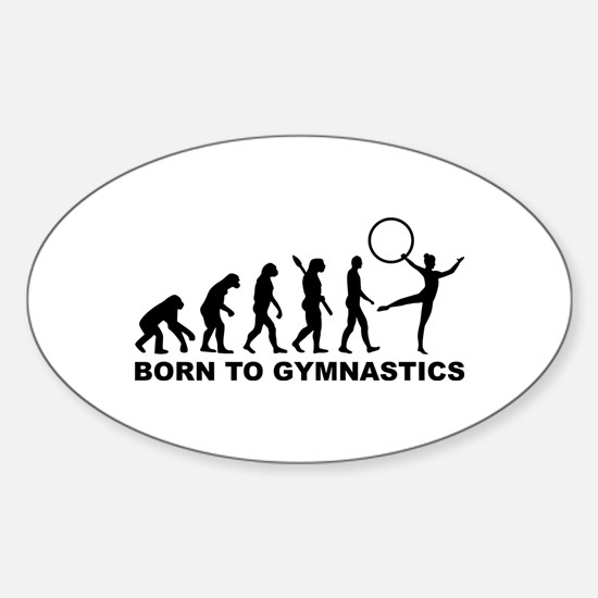 Evolution Gymnastics Sticker (Oval)