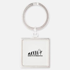 Evolution Gymnastics Square Keychain