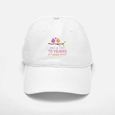 15th Anniversary Personalized Baseball Baseball Cap