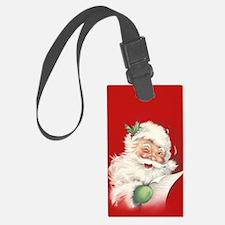 Vintage Santa Reworked! Luggage Tag