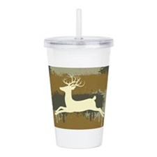 Deer On Camo 3 Acrylic Double-Wall Tumbler