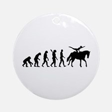Evolution Horse Vaulting Ornament (Round)