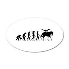 Evolution Horse Vaulting Wall Decal