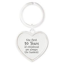30 Years Childhood Heart Keychain