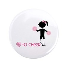 """Love To Cheer 3.5"""" Button (100 pack)"""