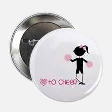 "Love To Cheer 2.25"" Button"