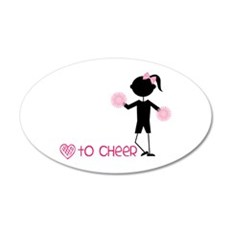 Love To Cheer Wall Decal