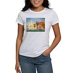 Sailboats (#2) & Golden Women's T-Shirt