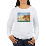 Sailboats (#2) & Golden Women's Long Sleeve T-Shir