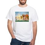 Sailboats (#2) & Golden White T-Shirt
