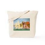 Sailboats (#2) & Golden Tote Bag