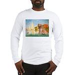 Sailboats (#2) & Golden Long Sleeve T-Shirt