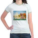 Sailboats (#2) & Golden Jr. Ringer T-Shirt