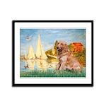 Sailboats (#2) & Golden Framed Panel Print