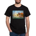 Sailboats (#2) & Golden Dark T-Shirt