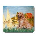 Sailboats (#2) & Golden Mousepad