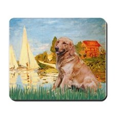 Sailboats (#2) & Golden Mousepad
