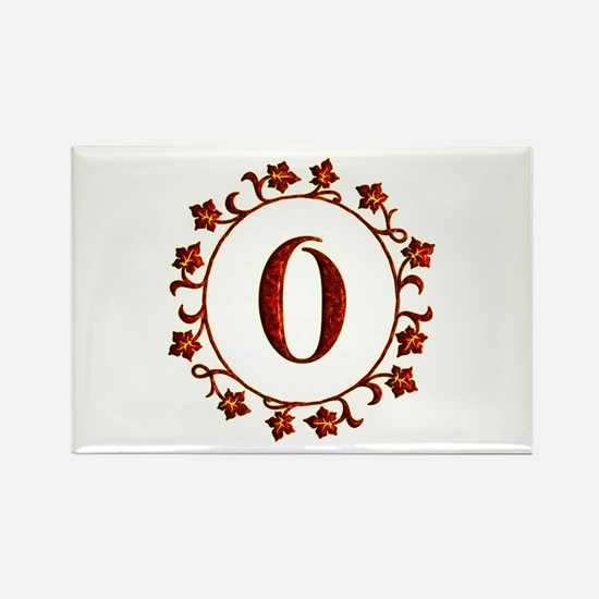 Letter O Monogram Rectangle Magnet
