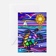 Colorful turtle Greeting Card