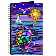 Funny Colorful turtle Journal