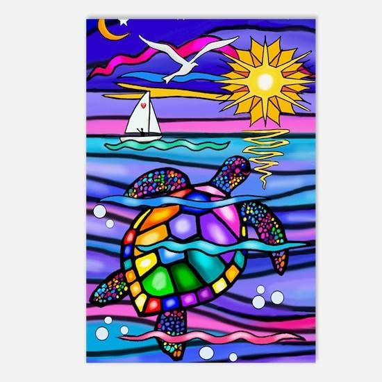 Cute Sea turtle Postcards (Package of 8)