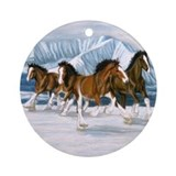 Clydesdale Round Ornaments