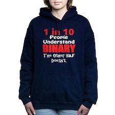 1 in 10 Understand Binar Women's Hooded Sweatshirt