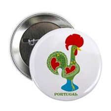 """Traditional Portuguese Rooster 2.25"""" Button"""