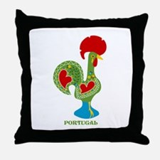 Traditional Portuguese Rooster Throw Pillow