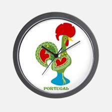 Traditional Portuguese Rooster Wall Clock