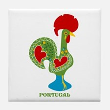 Traditional Portuguese Rooster Tile Coaster