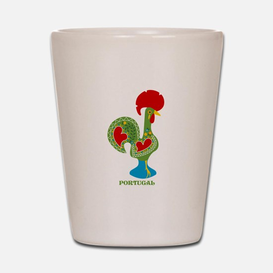 Traditional Portuguese Rooster Shot Glass
