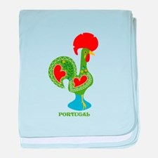 Traditional Portuguese Rooster baby blanket
