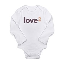 Funny Twins squared Long Sleeve Infant Bodysuit
