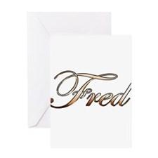 Gold Fred Greeting Cards