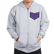 Hawkeye Chest Emblem Zip Hoodie