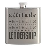 Attitude reflects leadership Flask Bottles