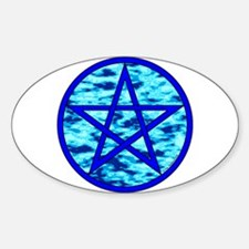 Elemental Pentacle Oval Sticker - Water