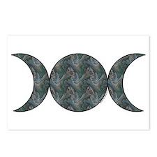 Triple Moon Postcards - Brocade (Package of 8)