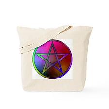 Watercolor Pentacle & Triple Moon Rev. Tote Bag