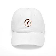 Letter P Monogram Baseball Baseball Cap