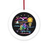 Sea turtle Round Ornaments