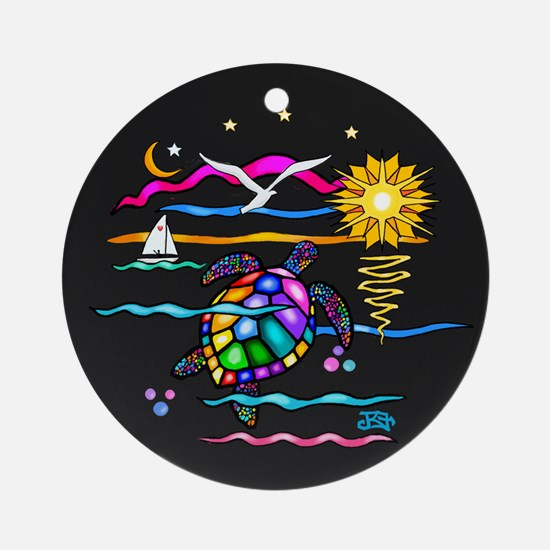 SeaTurtle (night) Ornament (Round)