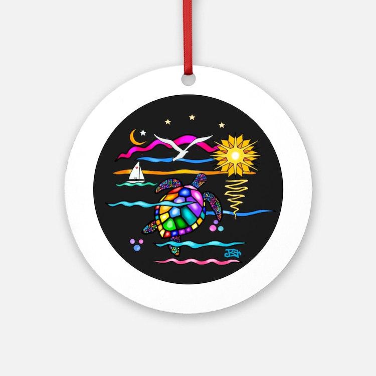 SeaTurtle (night) Ornament (Round)