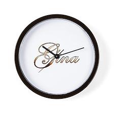 Gold Gina Wall Clock