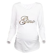 Gold Gino Long Sleeve Maternity T-Shirt