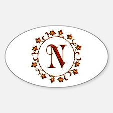 Letter N Monogram Decal